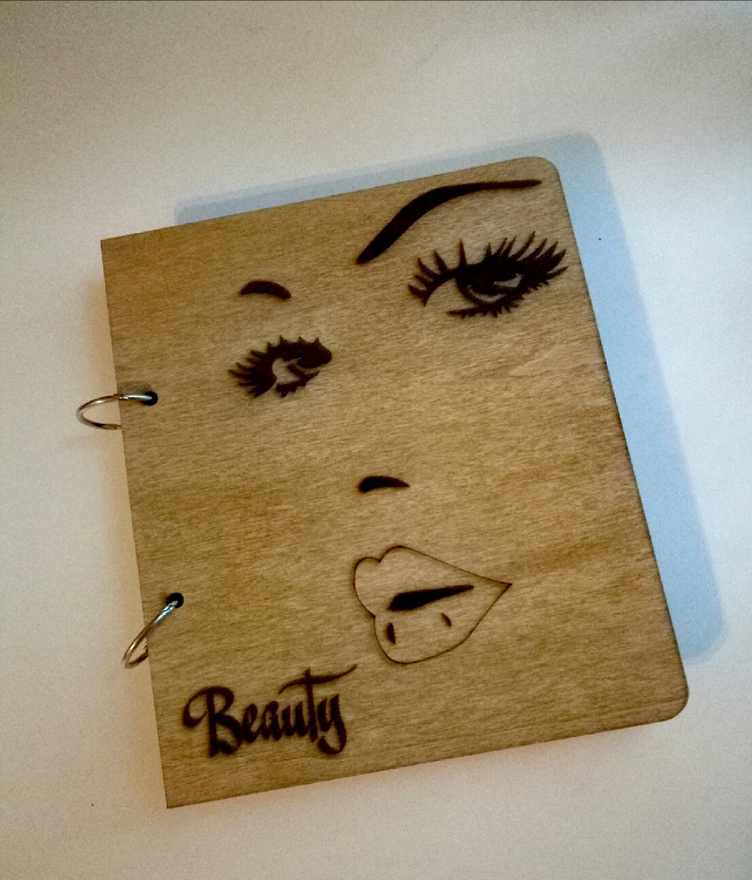 """Деревянный блокнот """"Beauty"""" (на кольцах), ежедневник из дерева"""