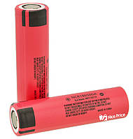 Аккумулятор Panasonic 18650 Li-ion 4.2v NCR18650GA 3500mah MH12210 Red