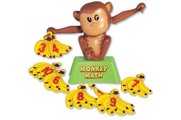 Развивающая игра по математике Popular Monkey Math Задачки от мартышки (сложение) - Игрушки для самых