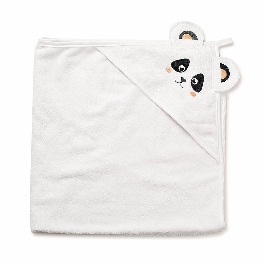 Полотенце махра Twins Панда white 100*100 см