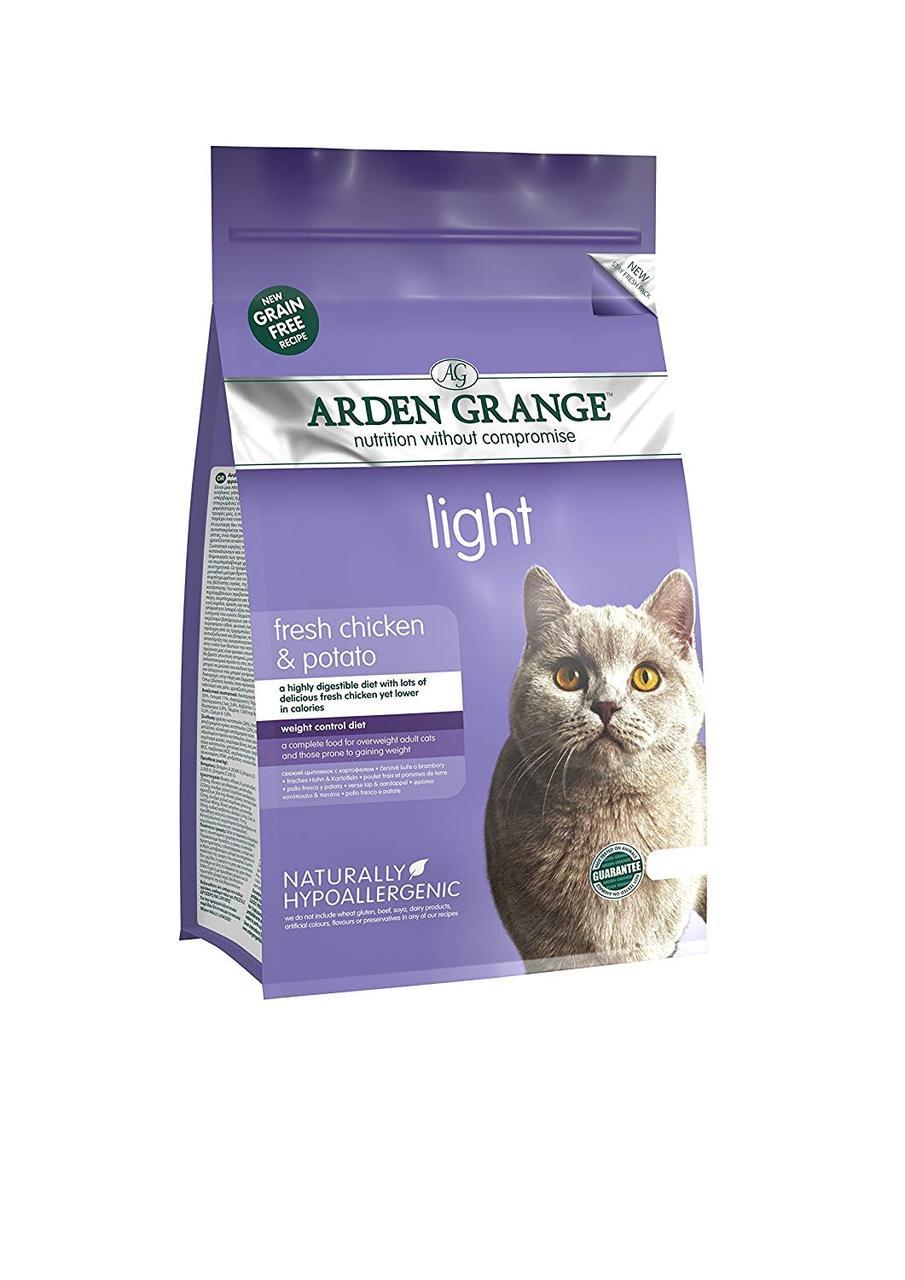 Arden Grange Adult Cat Light (Арден Грендж Адалт Кет Лайт) - низькокалорійний сухий корм для кішок 0,4 кг