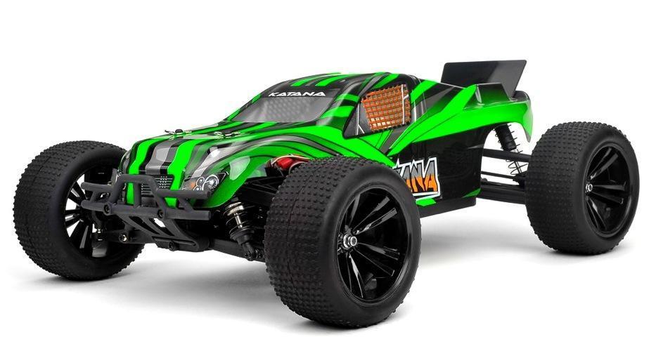Радиоуправляемая модель Трагги 1:10 Himoto Katana E10XTL Brushless (зеленый) - Радиоуправляемые игрушки
