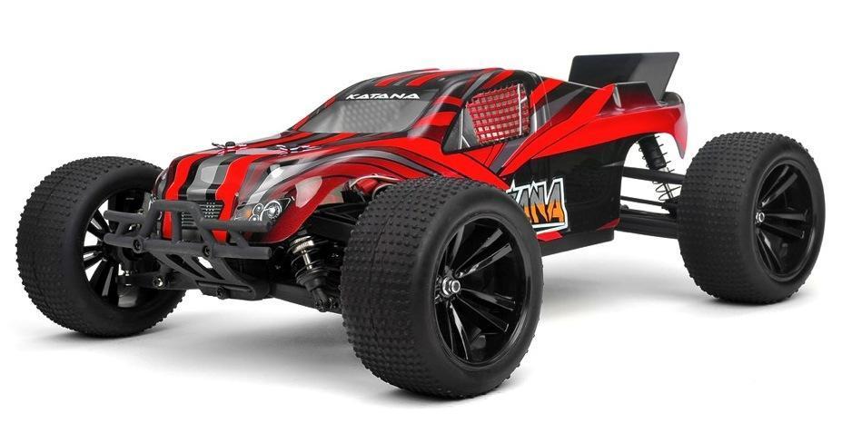 Радиоуправляемая модель Трагги 1:10 Himoto Katana E10XTL Brushless (красный) - Радиоуправляемые игрушки