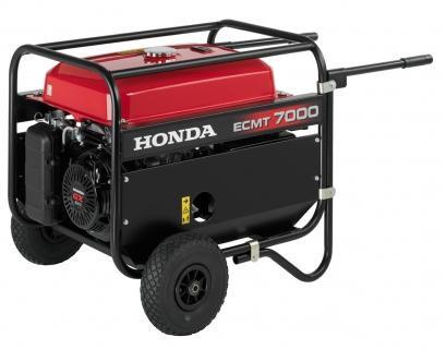 Генератор бензиновий Honda ECMT7000, потужність 7 кВт, 220 / 380в, на колесах, ручний запуск