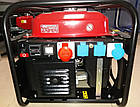 Генератор бензиновий Honda ECMT7000, потужність 7 кВт, 220 / 380в, на колесах, ручний запуск, фото 2