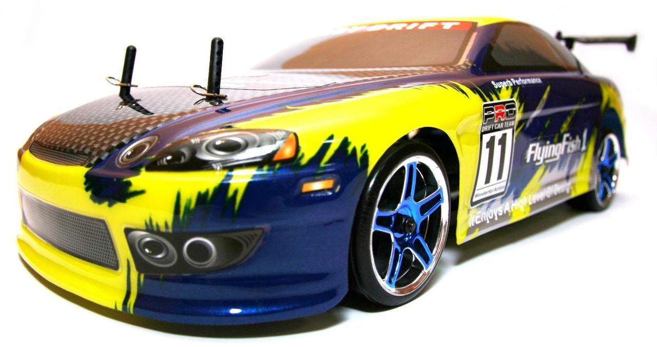 Радиоуправляемая модель Дрифт 1:10 Himoto DRIFT TC HI4123BL Brushless (синий) - Радиоуправляемые игрушки
