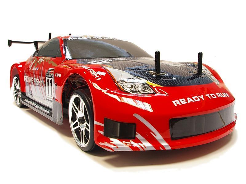 Радиоуправляемая модель Дрифт 1:10 Himoto DRIFT TC HI4123BL Brushless (красный) - Радиоуправляемые игрушки