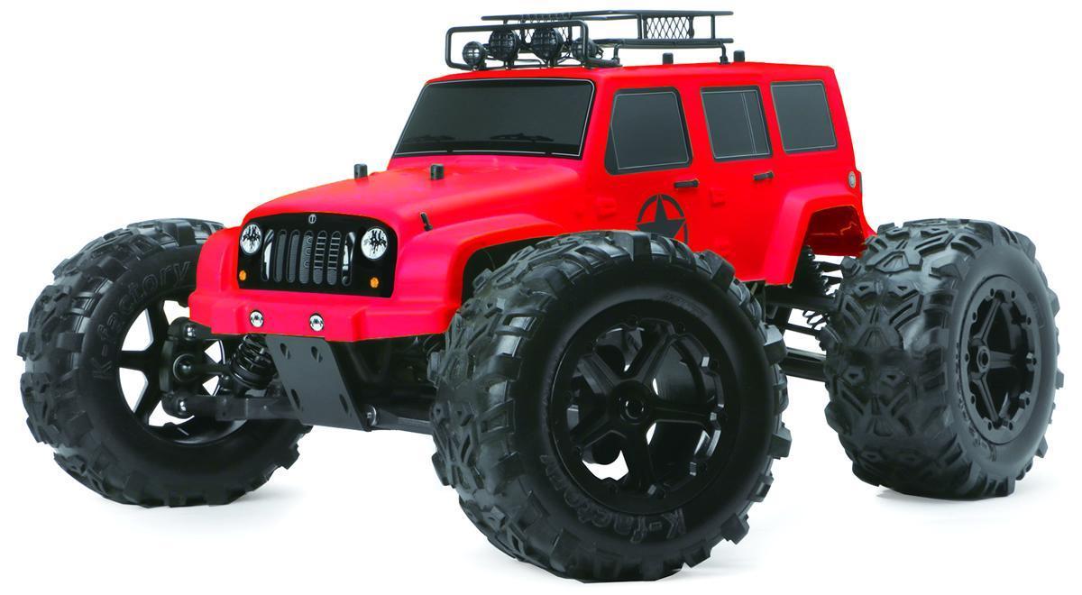 Радиоуправляемая модель Монстр трак 1:8 Team Magic E6 J-STAR 6S ARTR (красный) - Радиоуправляемые игрушки
