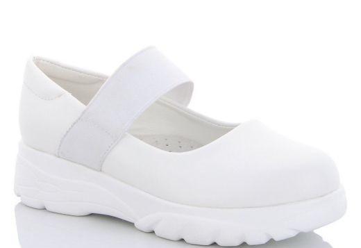 Школьные туфли для девочки, размеры 31-37  (Белые)