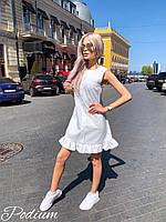 Летнее платье - трапеция без рукава с оборками по низу 27PL1513, фото 1