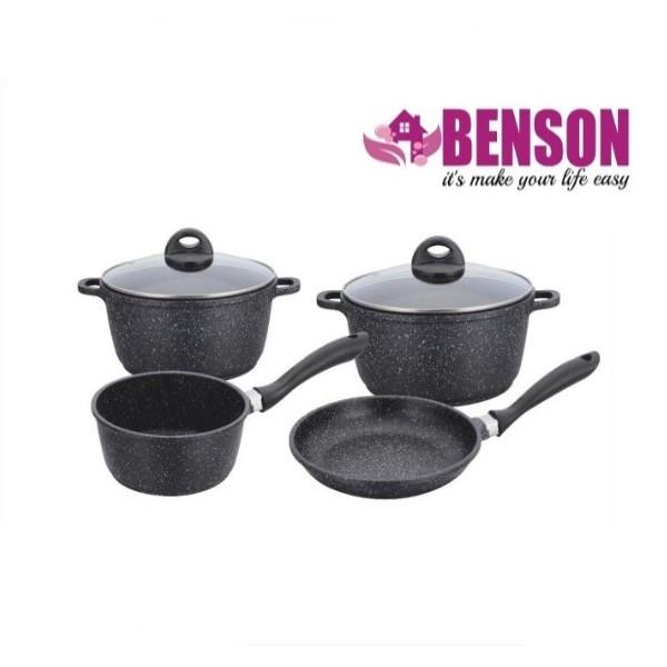 Набор посуды с мраморным покрытием из 6 предметов Benson BN-312