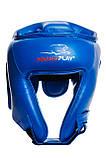 Боксерський шолом турнірний PowerPlay 3045 S Синій, фото 2
