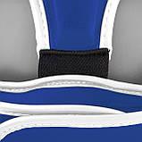 Боксерський шолом тренувальний PowerPlay 3068 PU + Amara Синьо-Білий M, фото 6
