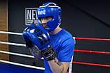 Боксерський шолом тренувальний PowerPlay 3068 PU + Amara Синьо-Білий M, фото 7