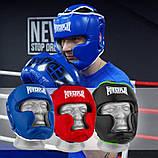 Боксерський шолом тренувальний PowerPlay 3068 PU + Amara Синьо-Білий M, фото 10