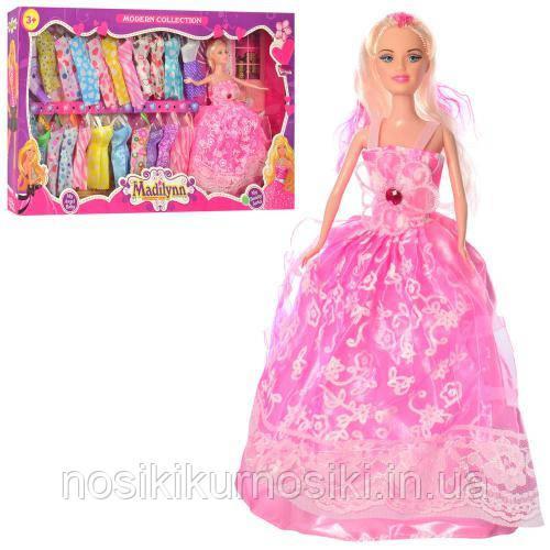 Лялька з нарядом - лялька 28 см, 22 сукні, взуття MD-21-23