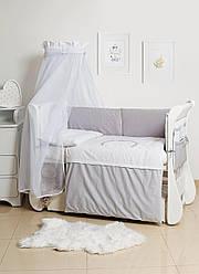 Детская постель Twins Dolce Rabbits D-010-019 grey 8 эл