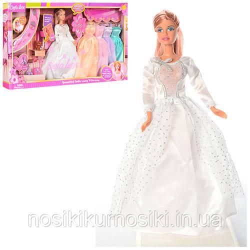 Кукла Defa Дефа с нарядом - кукла 29 см, 5 платьев, питомец 6073