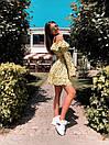 Юбочный летний костюм с топом с воланом и расклешенной юбкой 27ks1043, фото 6