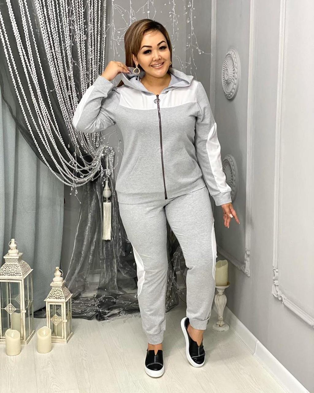 Женский спортивный костюм в больших размерах с мастеркой на молнии 10ba735