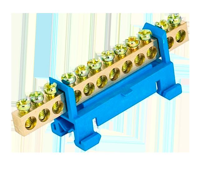 """Шина ізольована """"стійка"""" N «на DIN-рейку ШЛС 6х9-12 TechnoSystems TNSy5500178"""