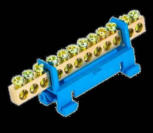 """Шина ізольована """"стійка"""" N «на DIN-рейку ШЛС 6х9-12 TechnoSystems TNSy5500178, фото 2"""
