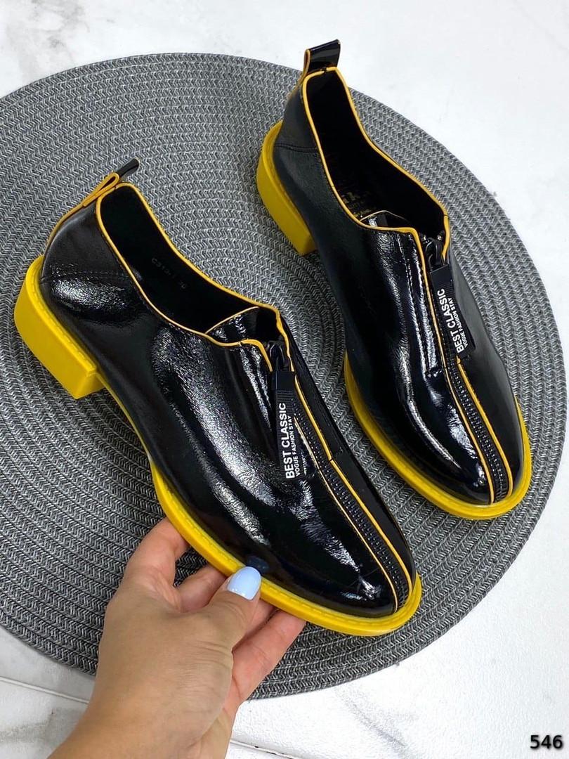 Лаковые туфли на молнии спереди 546 (ТМ)