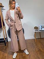 Женский костюм пиджак и кюлоты (черный, розовый, фиолетовый, С М Л)