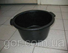 Пластиковий Таз садово-городній чорний 19литра (поліетилен) (1 шт)