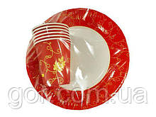 """Набор одноразовый бумажной посуды №4/23 """"Праздничная"""" (1 пач) ламинированный с рисунком для праздника"""