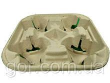 Держатель картонный холдер для 4-х (четырех )  стаканов (100 шт)