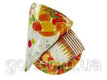 """Одноразовый набор бумажной посуды №1/19 """"Мармелад!""""  6шт (1 пач) ламинированный с рисунком для праздника"""