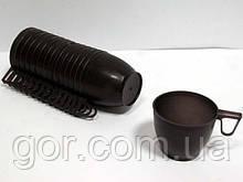Сумська чашка коричнева (30 шт)