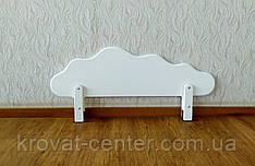 """Білий захисний бортик для ліжка з МДФ """"Хмара"""" 100 см. від виробника"""