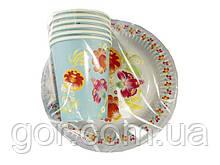 """Набор одноразовой посуды для детского праздника №3/19 """"Витаемо"""" (1 пач) ламинированный с рисунком для праздник"""