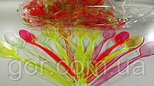 Ложечка коктельная цветная  (200 шт) одноразовая пластиковая