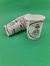 "Бумажный стакан 175мл  Газета №4"" Маэстро (50 шт) картонный одноразовый для напитков"