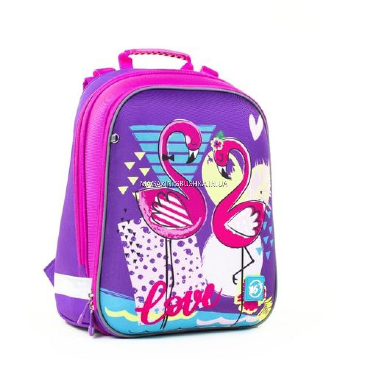 Рюкзак школьный каркасный YES H -12 Flamingo (558017)