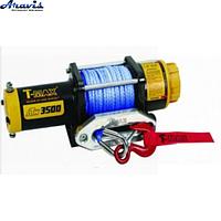 Лебідка автомобільна електрична T-Max ATWPRO-3500 12 синтетичний трос электролебедка