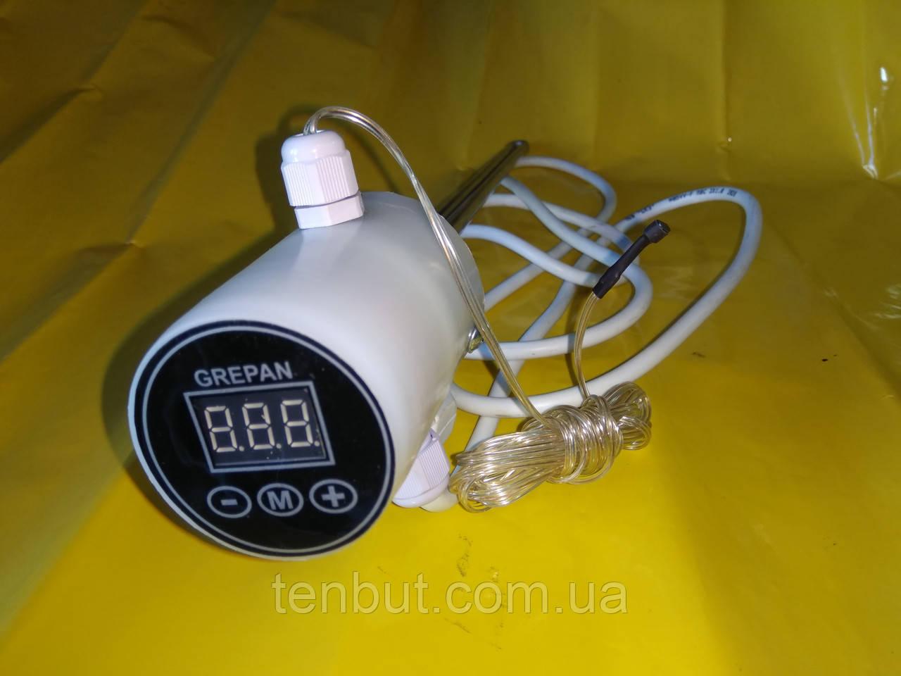 """Тэн в алюминиевую батарею с двумя датчиками температуры левая резьба 0.7кВт./1"""" дюйм /L-320мм. Украина GREPAN"""
