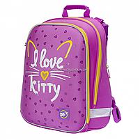 Рюкзак школьный каркасный YES H -12 I love kitty (558014), фото 2