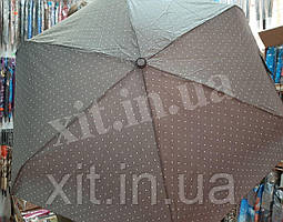 Женский легкий зонт в горошек RST серо-зеленый