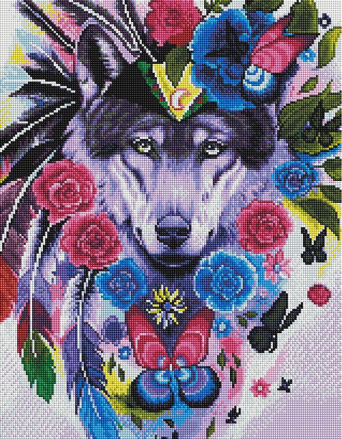 Волк в цветах