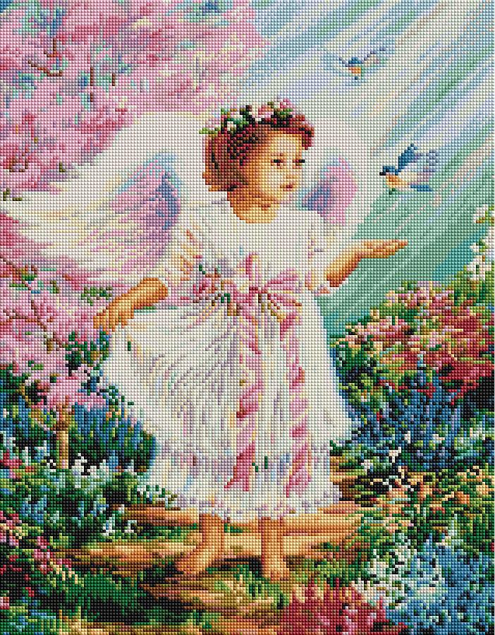 Ангелочек с синичками