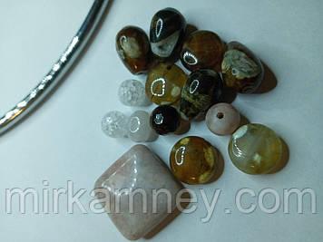Намистина з натурального каменю, набір для рукоділля (1)