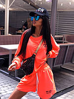 Летний женский спортивный костюм с шортами и свитшотом 5msp1017