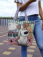 Женская тканевая сумка гобелен, пляжная сумка, ЭКО-сумка, текстильный шопер для покупок