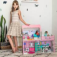 """""""ЛЮКС МИНИ New"""" кукольный домик NestWood для Барби, без мебели, розовый, фото 2"""