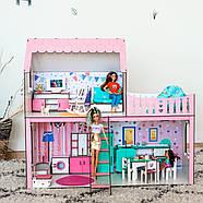 """""""ЛЮКС МИНИ New"""" кукольный домик NestWood для Барби, без мебели, розовый, фото 3"""