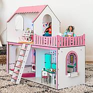 """""""ЛЮКС МИНИ New"""" кукольный домик NestWood для Барби, без мебели, розовый, фото 4"""